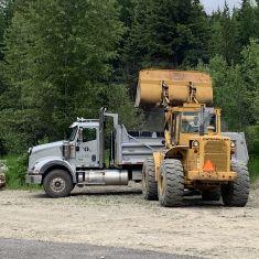 Gravel Truck & Loader