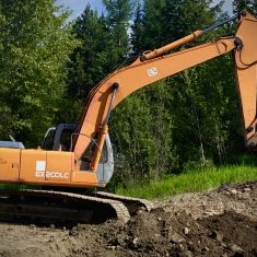 Excavator Digging Footings