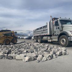 Bobcat Breaking Concrete